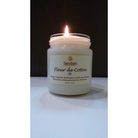 Bougie Naturelle Parfumée Fleur de Coton Gamme M