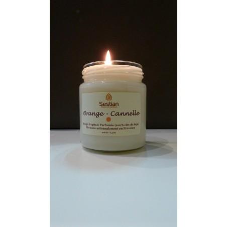 Bougie Naturelle Parfumée Orange-Cannelle Gamme M