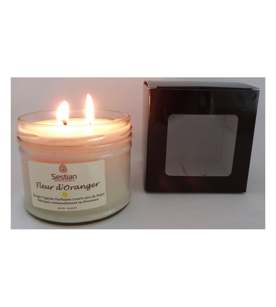 bougie naturelle parfum e fleur d 39 oranger 370 gr xl 2 m ches. Black Bedroom Furniture Sets. Home Design Ideas