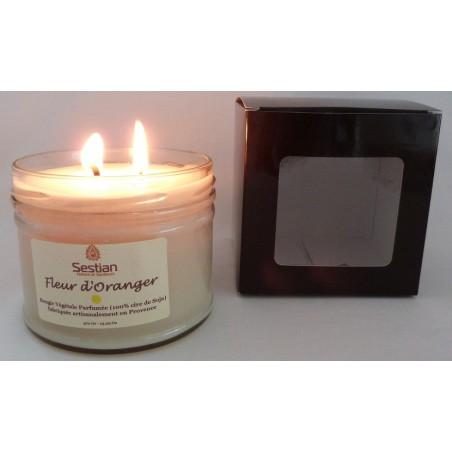 Bougie Parfumée Fleur d'Oranger XL 2 mèches