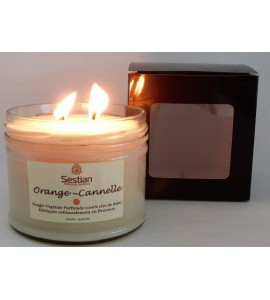 Bougie Parfumée Orange-Cannelle XL 2 mèches