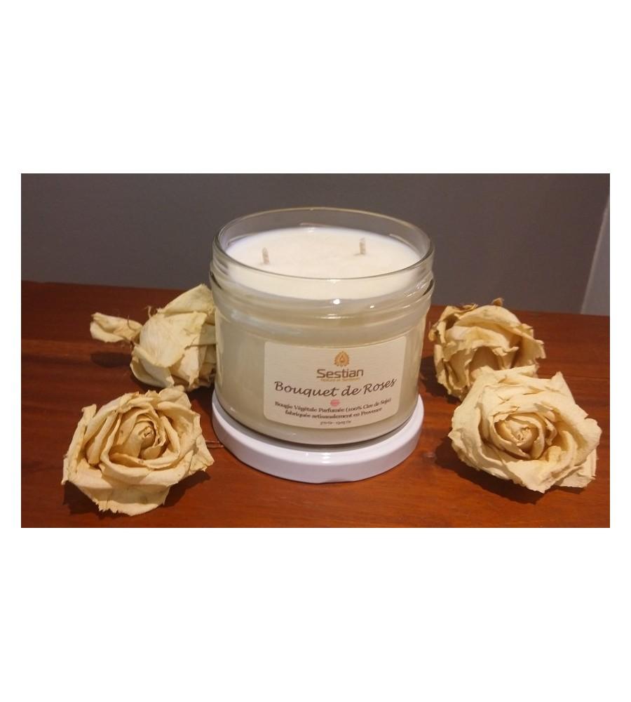 Bougie Parfumée Bouquet de Roses XL 2 mèches