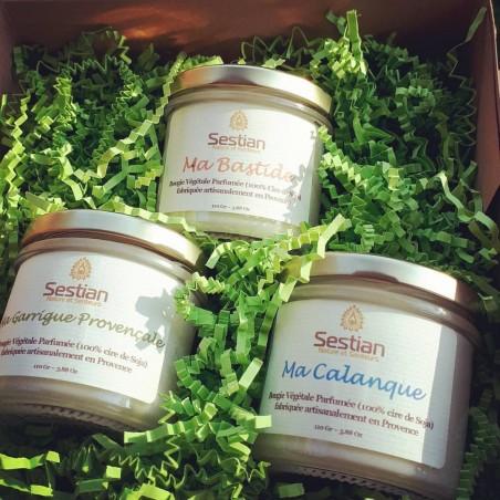 Coffret Cadeau Bougies parfumées Dédicace Provence