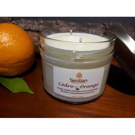 Bougie Parfumée Cèdre Orange XL 2 mèches