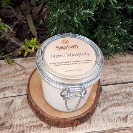 Bougie Naturelle  Parfumée Dédicace Provence : Mon Maquis