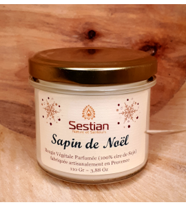 Bougie Parfumée Sapin de Noël 110 gr