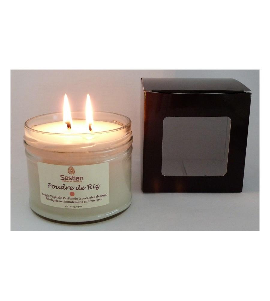 Bougie Parfumée Poudre de Riz XL 2 mèches