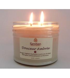 Bougie Parfumée Douceur Ambrée XL 2 mèches