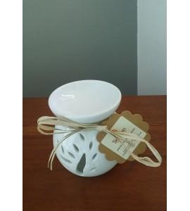 Brûle-Parfum en céramique blanche