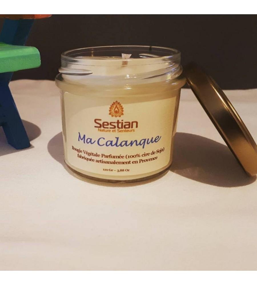 Bougie Naturelle  Parfumée Dédicace Provence : Ma Calanque S